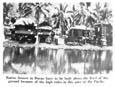 다바오의 원주민 집들은 이 지역 태평양의 높은 파고 때문에 지면에서 차이를 두고 지어야만 한다.