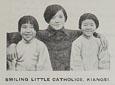 강서의 미소짓는 어린 신도들